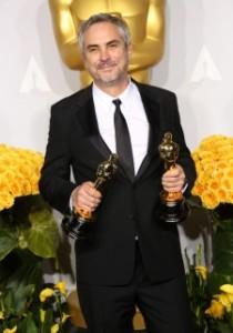 """Alfonso Cuarón z Oscarami za """"Grawitację"""" (2013)"""