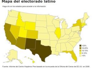 Rozmieszczenie mniejszości latynoskiej w 2008 roku