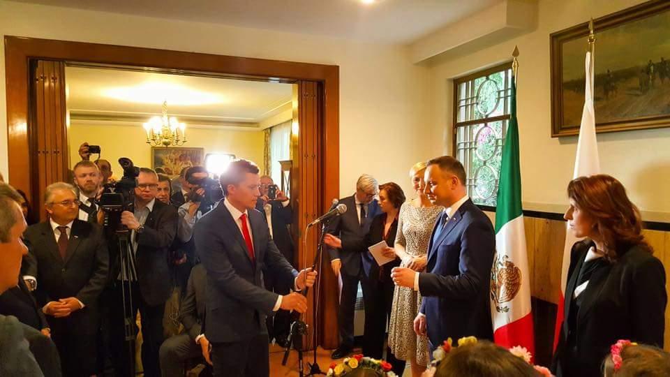 Prezydent Andrzej Duda w Ambasadzie RP w Meksyku. Foto: mat. własne